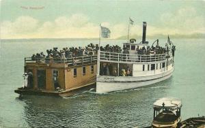 Ferry Boats Oregon C-1910 Newport Postcard Thomas 3370