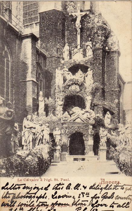 ANVERS, Le Calvaire a l'egl, St. Paul, Belgium, PU-1933