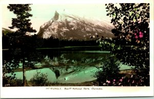 Vintage Real Photo Postcard RPPC Mt. Rundle Banff National Park Canada