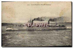 Old Postcard Boat War Against destroyer d & # 39escadre Oriflamme