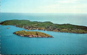 Maine Boothbay Area Aerial View Of Monhegan Island