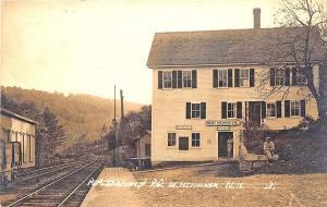 West Henniker NH Railroad Station Train Depot RPPC Postcard