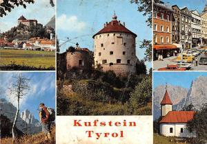 Kufstein Kaisertal Tyrol, Schloss Kirche Auto Vintage Cars Castle Church