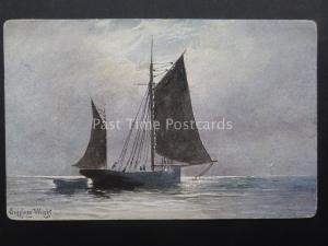 Artist Impression of Gaff Rigged Ketch by Henry Charles Seppings Wright c1902 UB