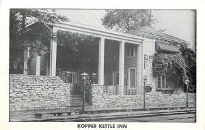 Morristown IN Stone Wall @ Vredenburg Kopper Kettle~Open YEARLY 1950s Postcard