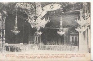 Sussex Postcard - Brighton - Royal Pavilion - Music Room - Ref 7005A