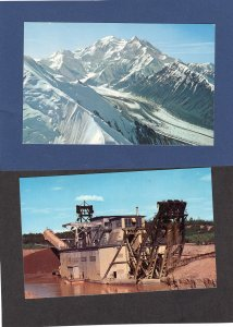 Alaska Scenic Postcards Gold Dredge, Mt. McKinley, Placer Mining