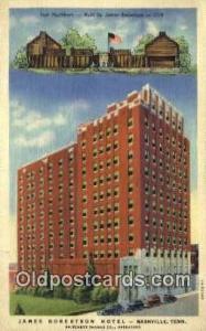 James Robertson Hotel, Nashville, TN, USA Motel Hotel Postcard Post Card Old ...