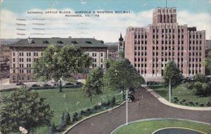 Virginia Roanoke General Office Building Norfolk & Western Railway 1942