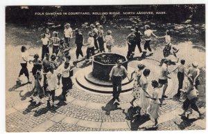 North Andover, Mass,  Folk Dancing In Courtyard, Rolling Ridge