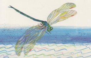 The Very Quiet Cricket Eric Carle Book Postcard