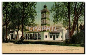 Old Postcard Marseilles Colonial Exhibition in 1922 Palace of Algeria