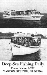 Florida Tarpon Springs Aspasia Deep Sea Fishing Boat