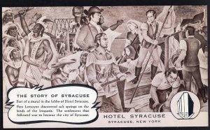 New York SYRACUSE Hotel Syracuse - The Story of Syracuse - pm1964 - Chrome