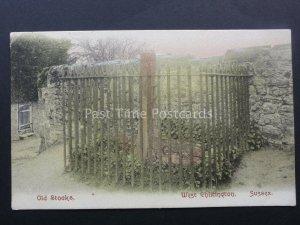 Sussex WEST CHILTINGTON OLD STOCKS c1907 Postcard