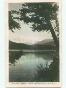 old rppc NICE VIEW Jasper National Park Alberta AB W0903