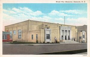 World War I Memorial, Bismarck, North Dakota, Early Linen Postcard, Used in 1942