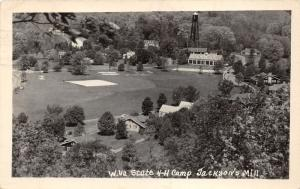 Jackson's Mill West Virginia~State 4H Camp Bird's Eye~Note from Camper~1950 RPPC