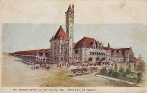 ST LOUIS , Missouri , 1901-07; Union Station, Central Bahnhof