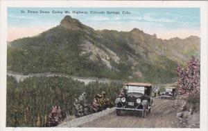 Colorado Colorado Springs St Peters Dome Corley Mountain Highway