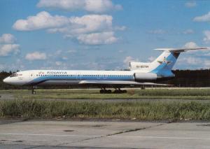 KOLAVIA, TU-154M, unused Postcard