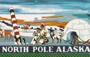 Alaska North Pole Painting At Santa Claus House sk7318