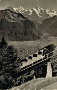 Switzerland Drahtseilbahn Interlaken Harder Kulm 02.90