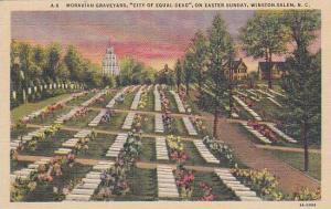 Moravian Graveyard, City Of Equal Dead, On Easter Sunday, Winston Salem, No...