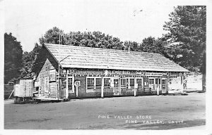 Pine Valley CA U. S. Post Office & Store Coca--Cola Signs Real Photo Postcard