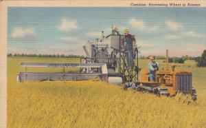 15452  Combine Harvesting Wheat Kansas