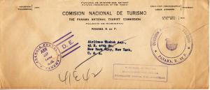 Panama National Tourism Commission Official Stampless Cover