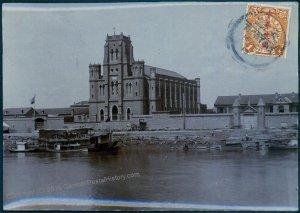 Germany 1913 China TIENTSIN Church Original Photograph Stamped As Postcard 91358
