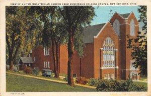 New Concord Ohio 1929 Postcard United Presbyterian Church