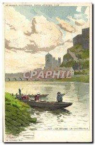 Old Postcard Fantasy Illustrator Ranot Huy La Meuse collegial