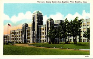 Massachusetts West Boylston Worcester County Sanatorium Curteich