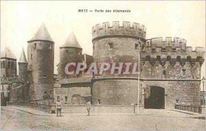 Old Postcard Metz Porte des Allemands