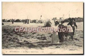 Postcard Old Riva Bella La Plage Maree Basse