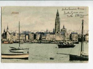 3129768 Belgium Anvers Antwerpen ships Vintage postcard