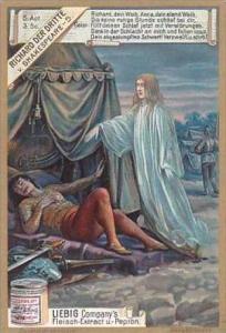 Liebig Vintage Trade Card S603 Shakespeares Richard III 1899 No 5 Act 5 Scene 3