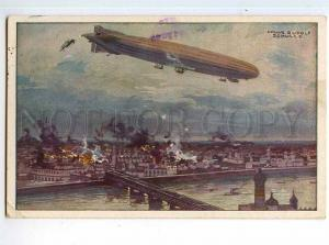 247960 WWI GERMANY Schulze Zeppelin airship 1915 year RPPC