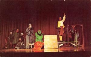 Buhl Idaho~Antique Festival Theatre~Thurber: The Thirteen Clocks~1960s Postcard