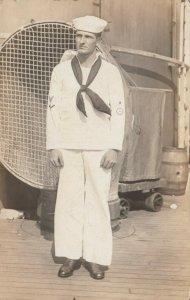 RP: U. S. Navy Sailor onboard, 1918