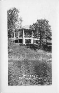 New London Minnesota~Band Stand Along Waterfront~1920s Real Photo Postcard~RPPC