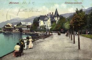 austria, MILLSTATT, Strandpromenade, Ladies in Dresses (1909)