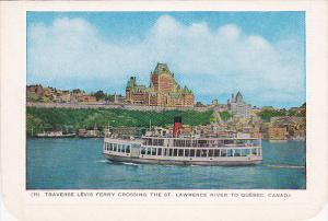 Bi-Fold, Traverse Levis Ferry Crossing the St. Lawrence River, QUEBEC, Canada...