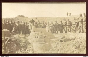 dc1163 - ITALY MILITARY 1911-12 Italo-Turkish War. Soldiers. Real Photo Postcard