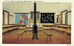 USA Pennsylvania Valley Forge Interior of Old Camp School House 04.29