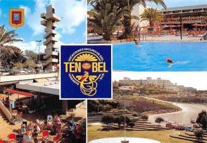 Spain Tenerife Costa del Silencio, Housing Development Swimming Pool Panorama