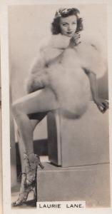Laurie Lane Hollywood Actress Rare Real Photo Cigarette Card