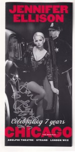 Jennifer Ellison Chicago The Musical Hand Signed Theatre Flyer